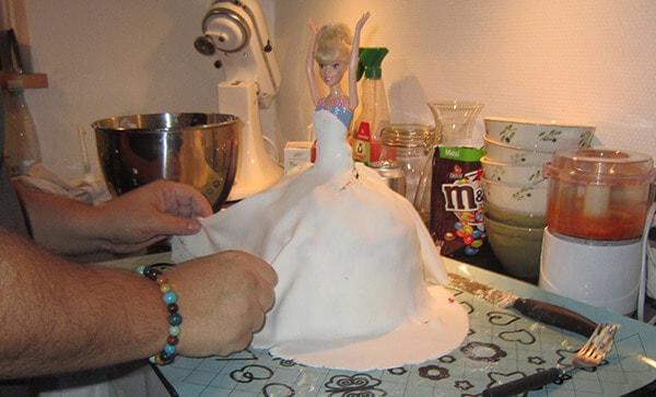 Fondant Princess Rainbow cake