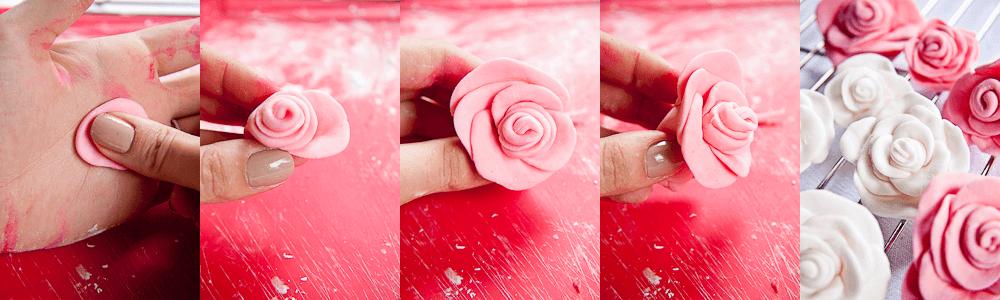 Hjemmelavet fondant blomst