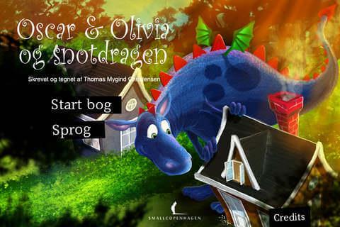 Gode Apps til Børn -Oscar & Olivia og Snotdragen
