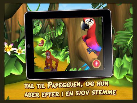 Rynkes Jungle Børne app Papegøje