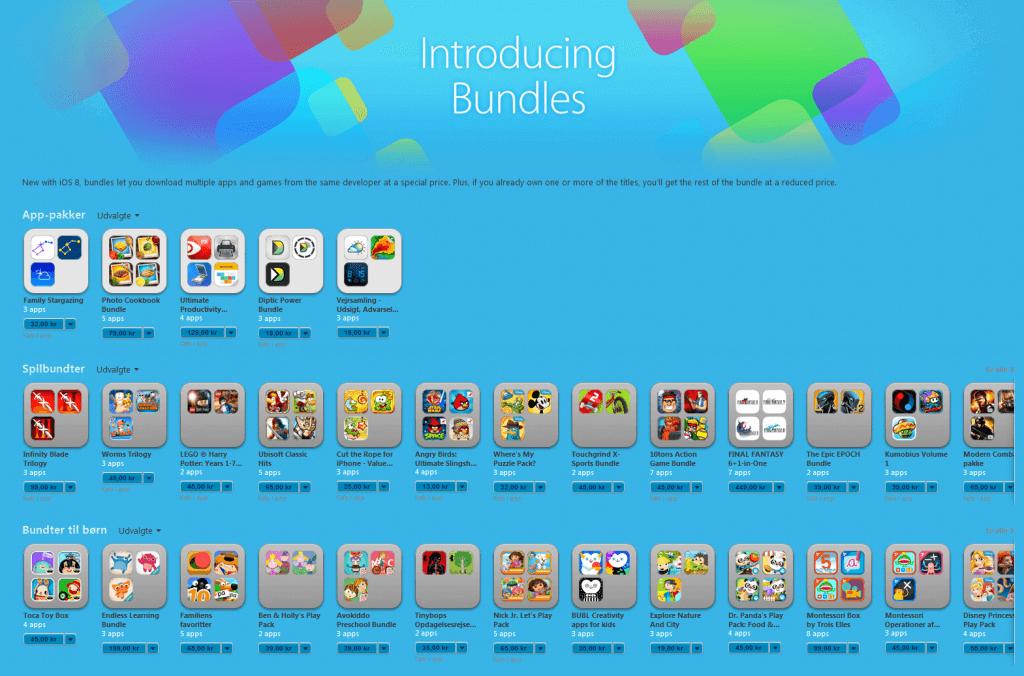 App bundles i iTunes & app store