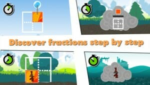 Slice Fractions - matematik app
