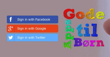 Log ind med din sociale konto