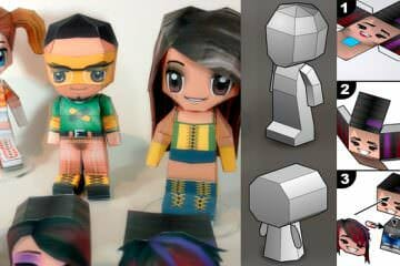 3D papercraft PaperChibi