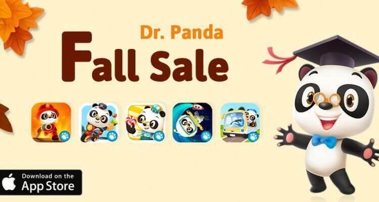 Flere Dr Panda apps er nedsat i pris i app store lige nu