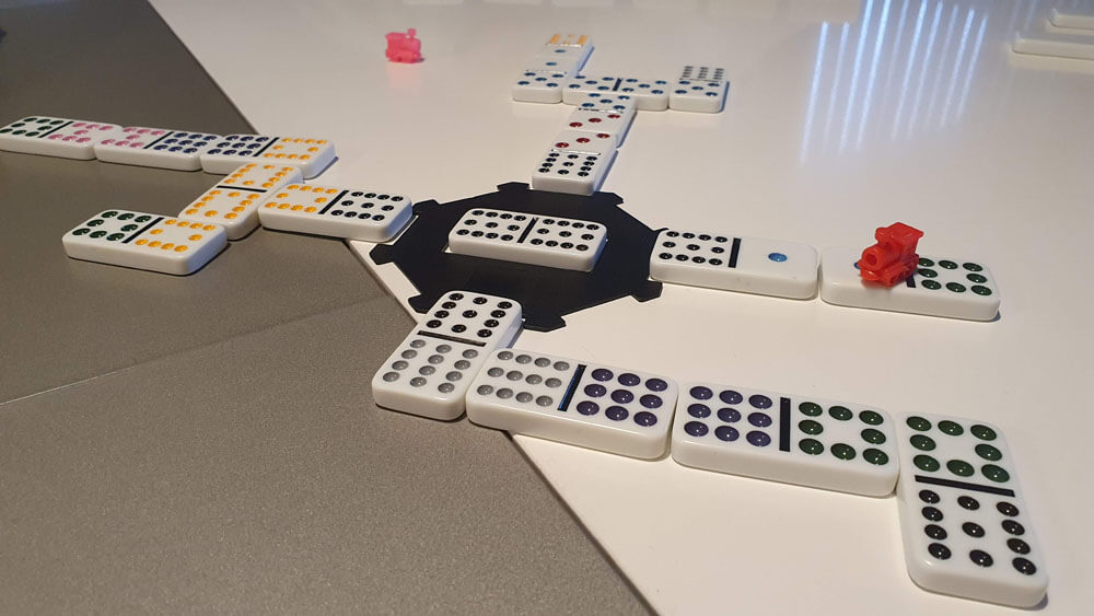 Mexican Train - Domino 04 - spillet er igang