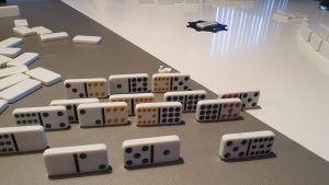 Mexican Train - Domino 03 - opstillede brikker fra spiller